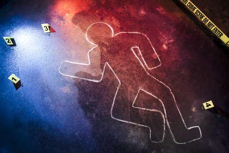 uccidere: foto di una scena del crimine fresca