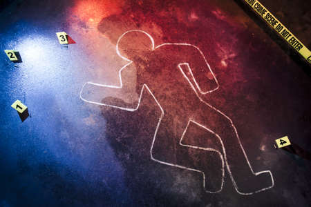 photo of a fresh crime scene  Stock Photo - 12360068