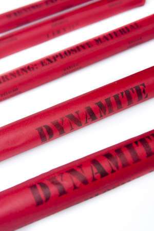 Dynamite on white background photo