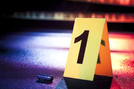 uccidere: foto di scena di un crimine fresca