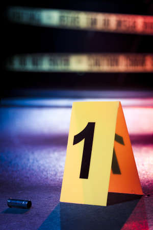 photo of a fresh crime scene  Stock Photo - 12360078