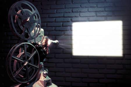 cine: foto de un proyector de pel�cula antigua