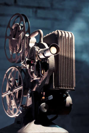 photo of an old movie projector photo