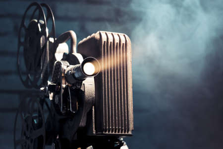 cinema old: foto di un proiettore vecchio film