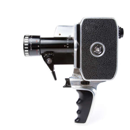 film festival: photo of an 8mm film camera on white