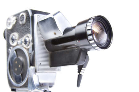 photo of an 8mm film camera on white