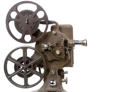 movie film reel: foto de un proyector de pel�cula antigua