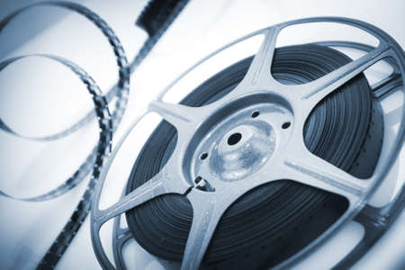 reel of 8mm motion picture film photo