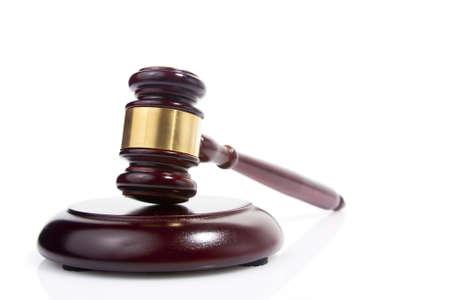 judge gavel isolated on white Stock Photo - 12783010