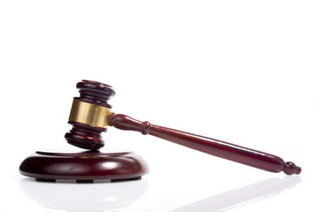 judge gavel isolated on white