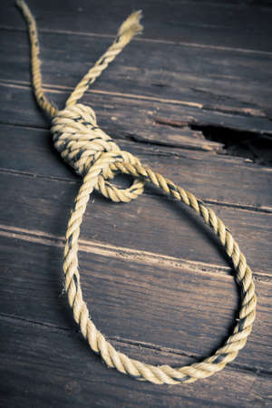 high contrast image of a hangman's noose Stock Photo - 12783039