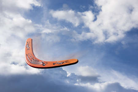 photo of a boomerang in flight Stock Photo - 13086184