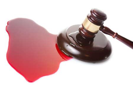 oracion: sentencia de muerte o el concepto injusticia con juge martillo y la sangre