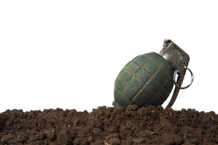 handgrenade: grenade isolated on white Stock Photo