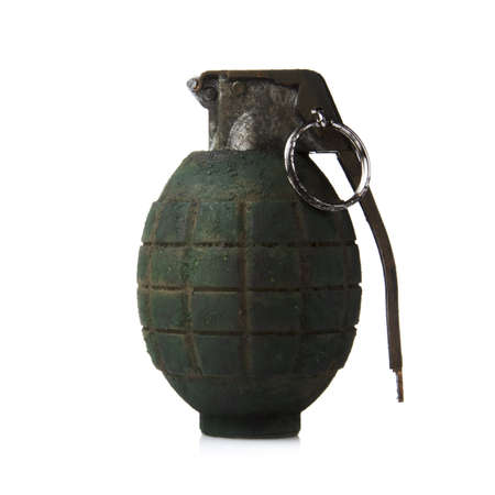 grenade isolated on white 版權商用圖片