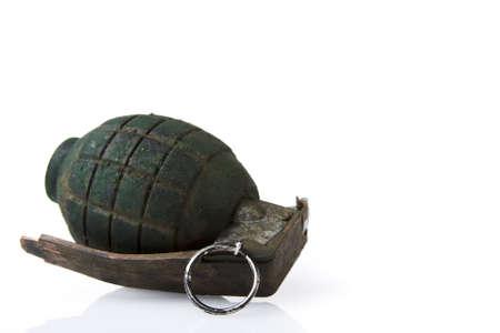 ammunition: grenade isolated on white Stock Photo