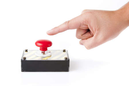 panic button: red panic button on white background