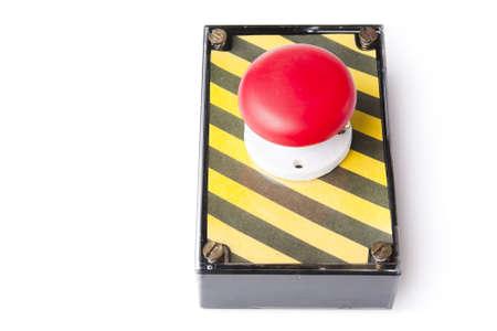 panic button: panico pulsante rosso su sfondo bianco