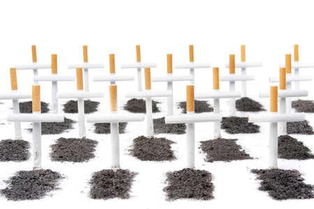 smoking kills concept with cigarette photo
