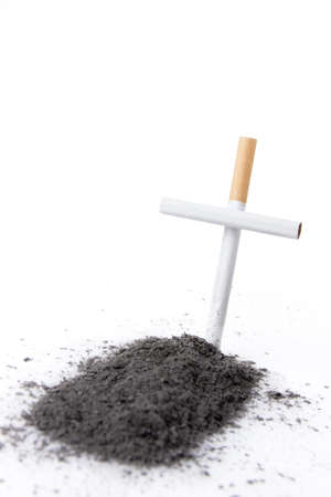 ashes: smoking kills concept with cigarette