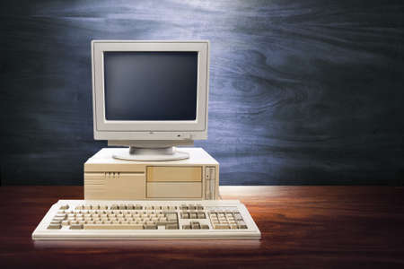 old pc: vintage photo of obsolete technology