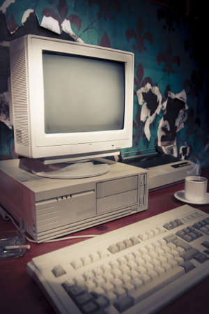 vintage photo of obsolete technology  photo