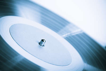 turntable: Vintage turn table extreme close-up Stock Photo