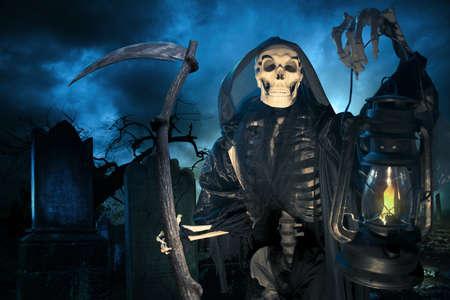 omen: Grim reaper on a dark background