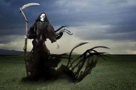 grim reaper reaper: Grim reaper on a dark background