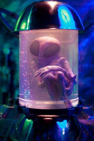 bioengineering: Extraterrestrial in a test tube Stock Photo