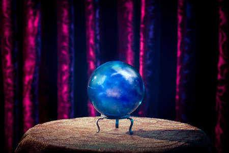 soothsayer: Magic crystal ball on a table