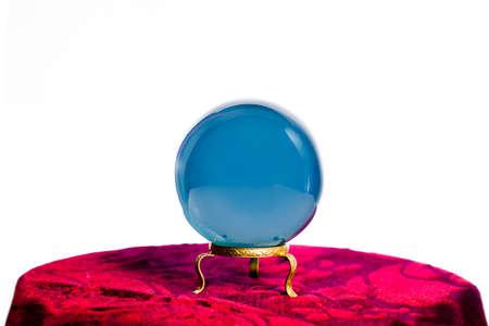 magic ball: Magic crystal ball on white background Stock Photo