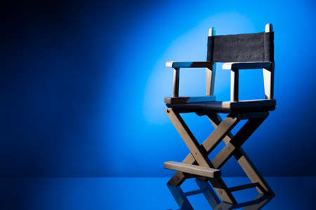 film: Dramatic lit Directors Chair