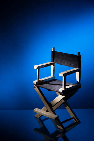 director's chair: Dramatic lit Directors Chair
