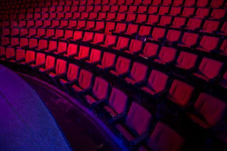 Empty rows of red theater or movie seats Zdjęcie Seryjne