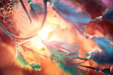 Dream Catcher sur une forêt magique Banque d'images