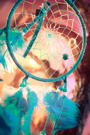 dream catcher on a magical forest photo