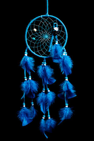 Dreamcatcher isolated on black