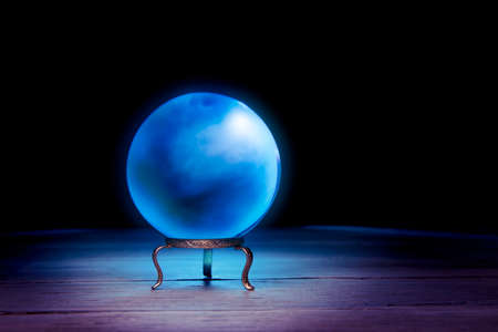 diviner: Magic crystal ball on a table