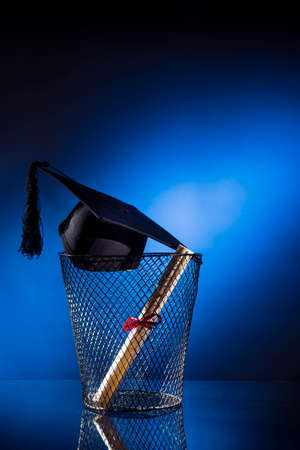 failed: Dramatic lit concept of school drop out Stock Photo