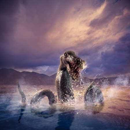 Photo composite of Loch Ness Monster photo
