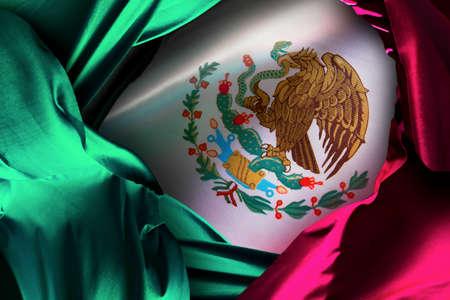 Drapeau mexicain avec un éclairage dramatique, jour de l'indépendance, cinco de mayo célébration Banque d'images - 28047045