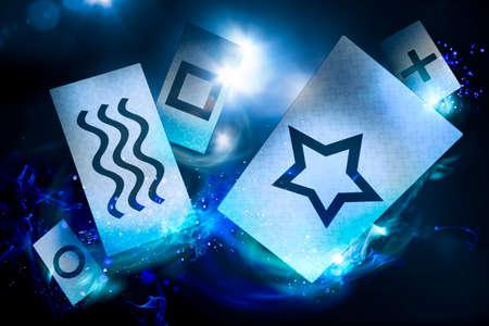 perceptie: kaarten zijn gebruikt voor experimenten voor buitenzintuiglijke waarneming geleiden (ESP)