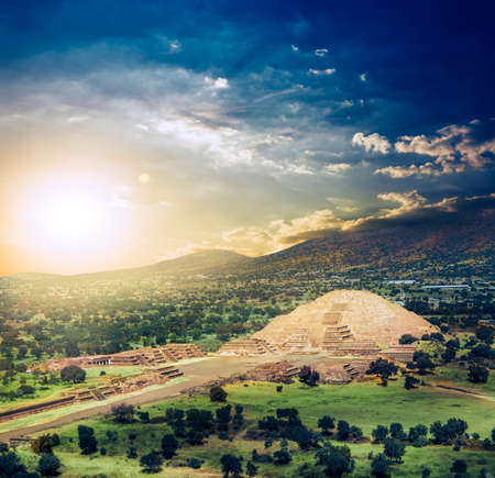 Teotihuacan, Avenue of the Dead and the Pyramid of the Moon photo