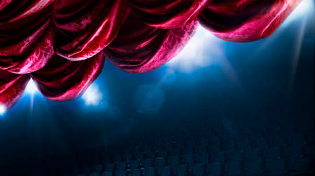 Theater curtain with dramatic lighting and lens flare Zdjęcie Seryjne - 28047413