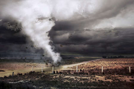tornado: Tornado about to make damage