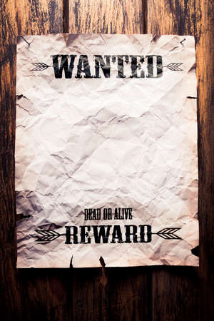 wanted dead or alive reward poster
