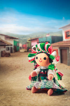 tradition: Mexican rag doll in a traditional dress