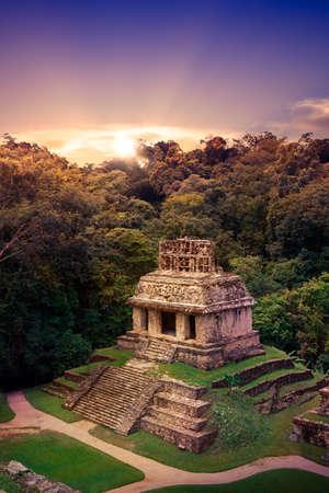 Ruinas de Palenque, ciudad maya en Chiapas, México.