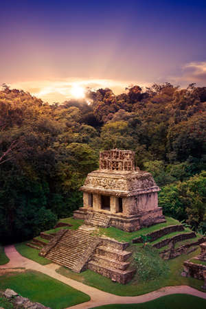mexico city: Ruins of Palenque, Maya city in Chiapas, Mexico